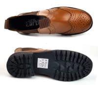 New Earth Kids Chestnut Brown Rider Leather brogue dealer jodphur boots